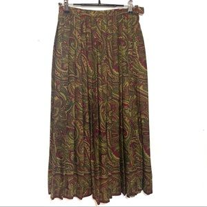 JH Collectibles Vintage Pleated Paisley Skirt